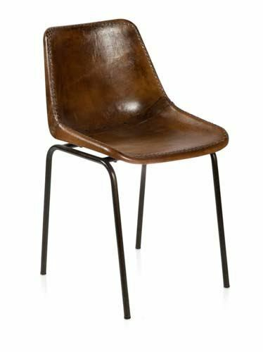 VINTAGE AGED LEATHER DINING CHAIR WITH STITCHING ON THE  : s l1000 from www.ebay.com.au size 374 x 500 jpeg 12kB