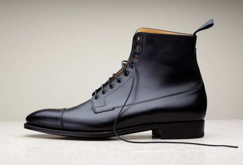 Mens Leather High Top Dress Shoes