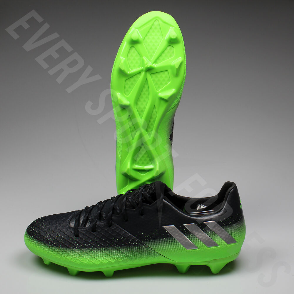 4366eef949c Details about Adidas Messi 16.2 FG Soccer Cleats S79630 - Gray Silver Green  (NEW) Lists    140