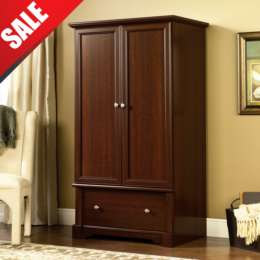 Wardrobe Armoire Storage Closet Cabinet Wood Clothes