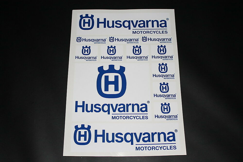husqvarna aufkleber sticker decal logo schrifzug kleber. Black Bedroom Furniture Sets. Home Design Ideas