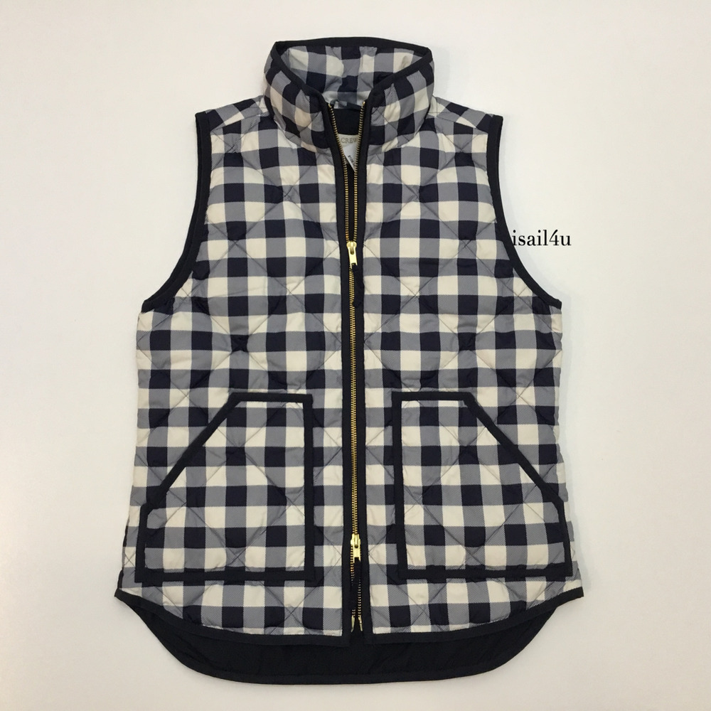 J Crew Factory Excursion Printed Quilted Puffer Vest Nwt