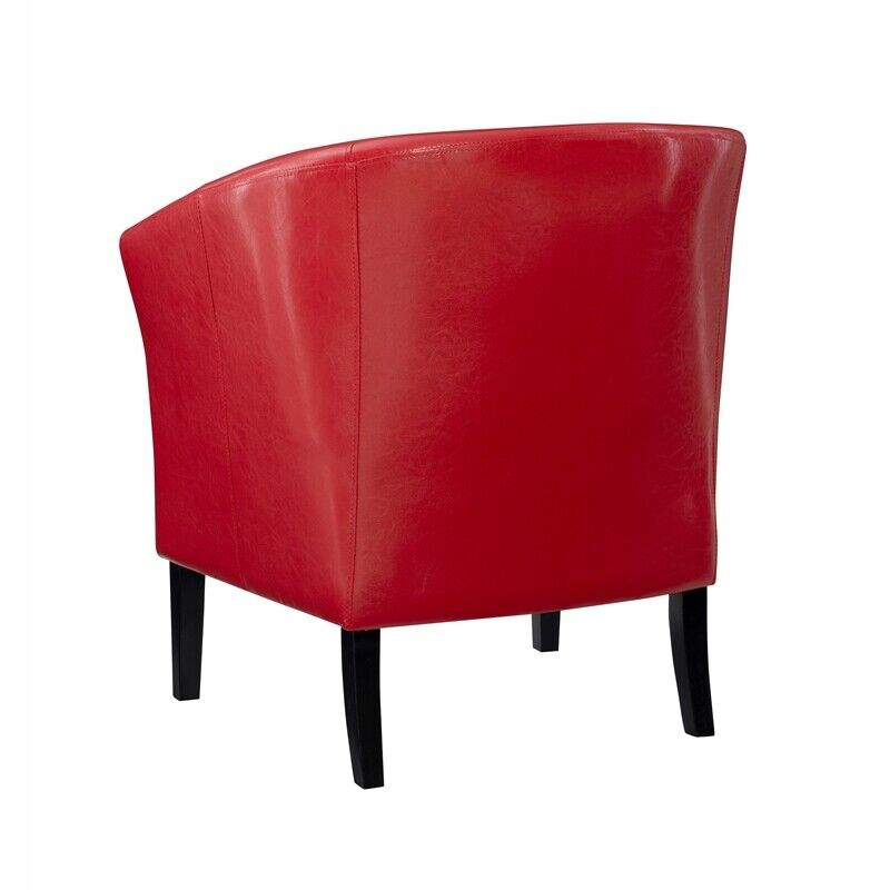 Small Red Leather Accent Chair: Linon Simon Faux Leather Club Chair Upholstered Chairs