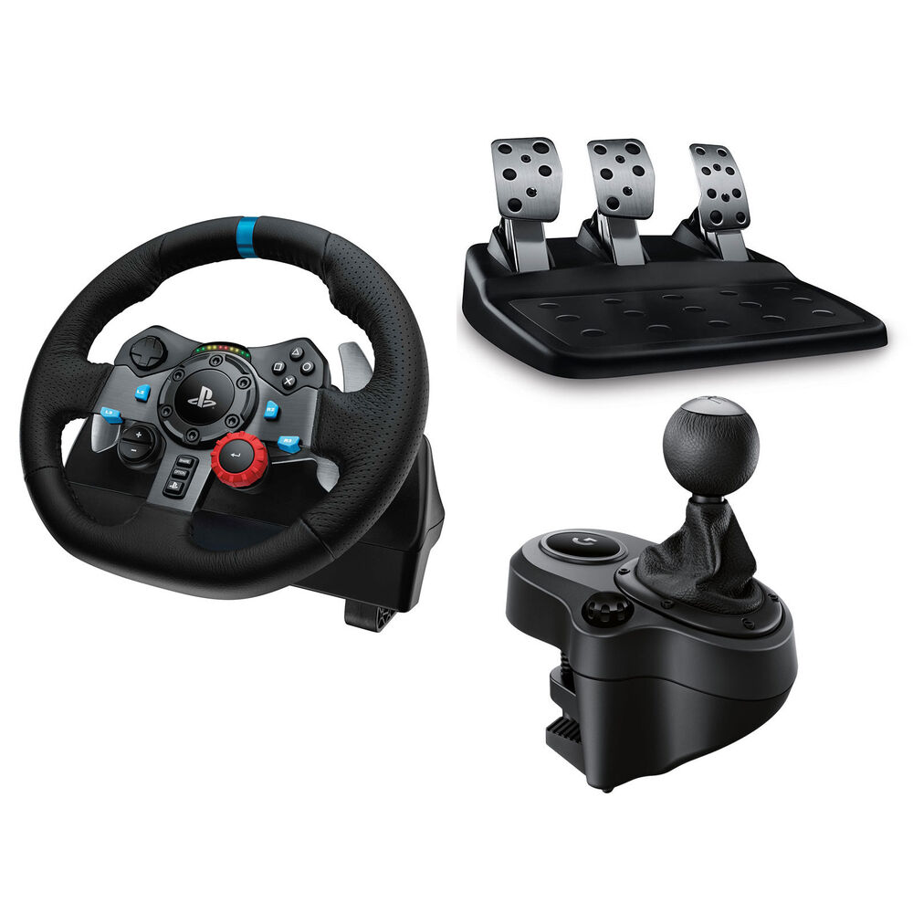logitech g29 racing wheel pedals shifter ps4 pc. Black Bedroom Furniture Sets. Home Design Ideas