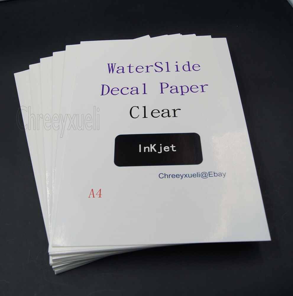 water slide paper Waterslide decal paper for inkjet or laser printers create your own decals with  ease just print on the paper apply the acrylic spray and let it dry soak it in water .