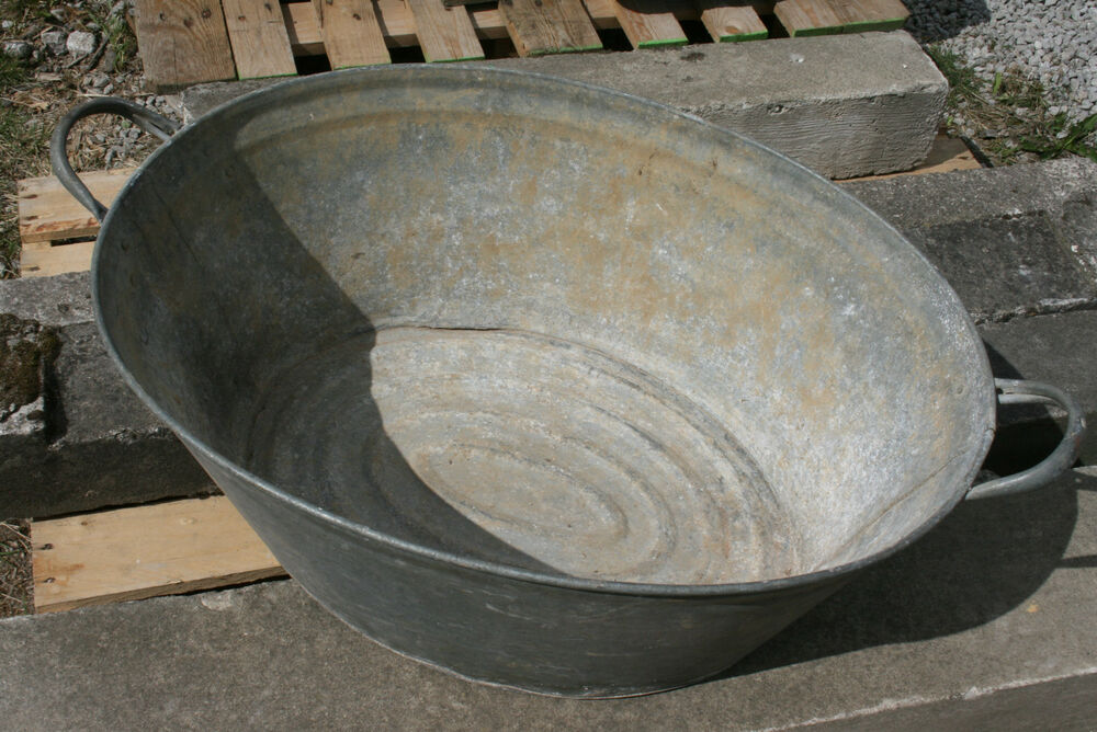 Metal Trough Bathtub : Planter Trough Metal Bath Reclaimed Galvanised Tub Vintage eBay