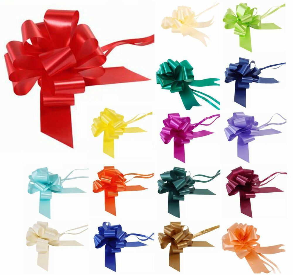 Pull bows 30mm ribbon wedding car florist small xmas for Photo decoration