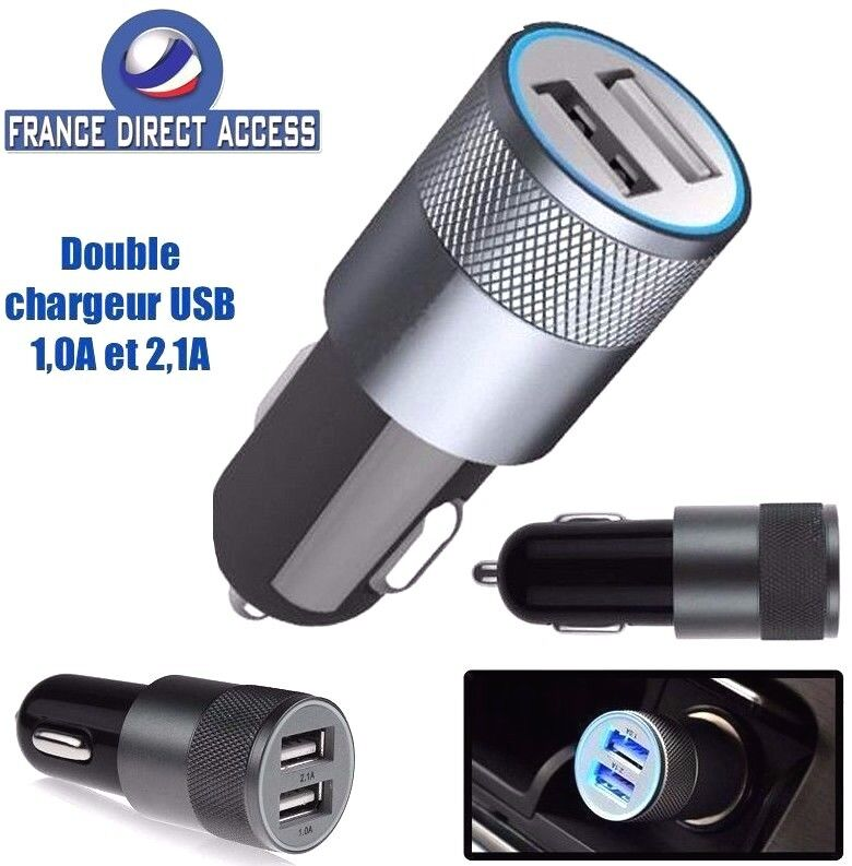 chargeur voiture usb double 2 ports allume cigare pour iphone ipad samsung ebay. Black Bedroom Furniture Sets. Home Design Ideas
