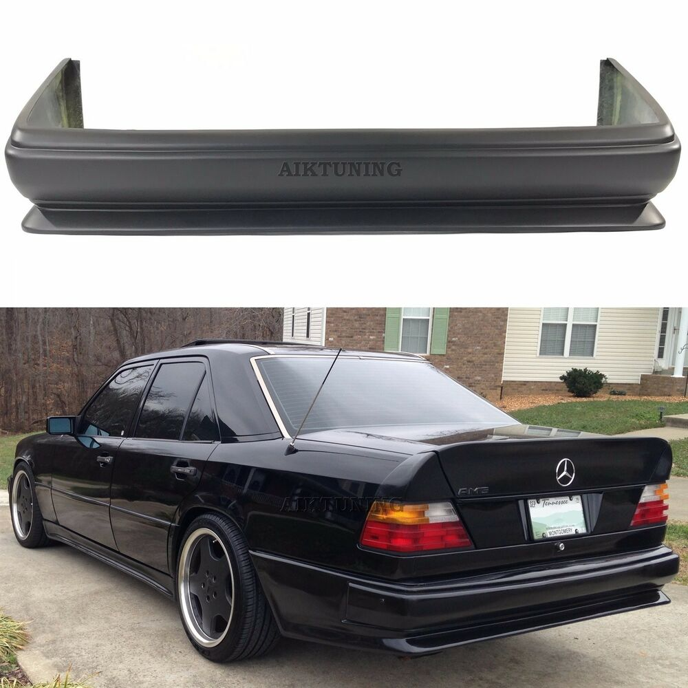 Mercedes benz w124 amg 2 style full rear bumper spoiler for Mercedes benz shop