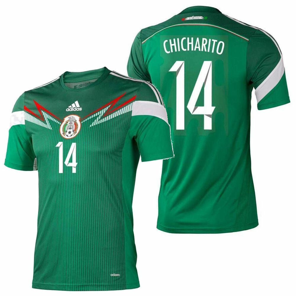 fd7b65fe9eb52 Details about ADIDAS CHICHARITO MEXICO AUTHENTIC ADIZERO HOME JERSEY FIFA  WORLD CUP 2014.