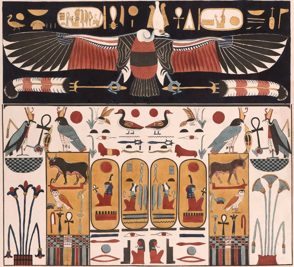 The Story in Paintings: Ancient Egypt and Italy – The ... |Egyptian Art Paintings