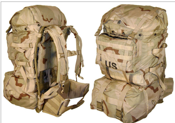 used new and perfect condition desert molle pack military surplus 5 parts ebay. Black Bedroom Furniture Sets. Home Design Ideas