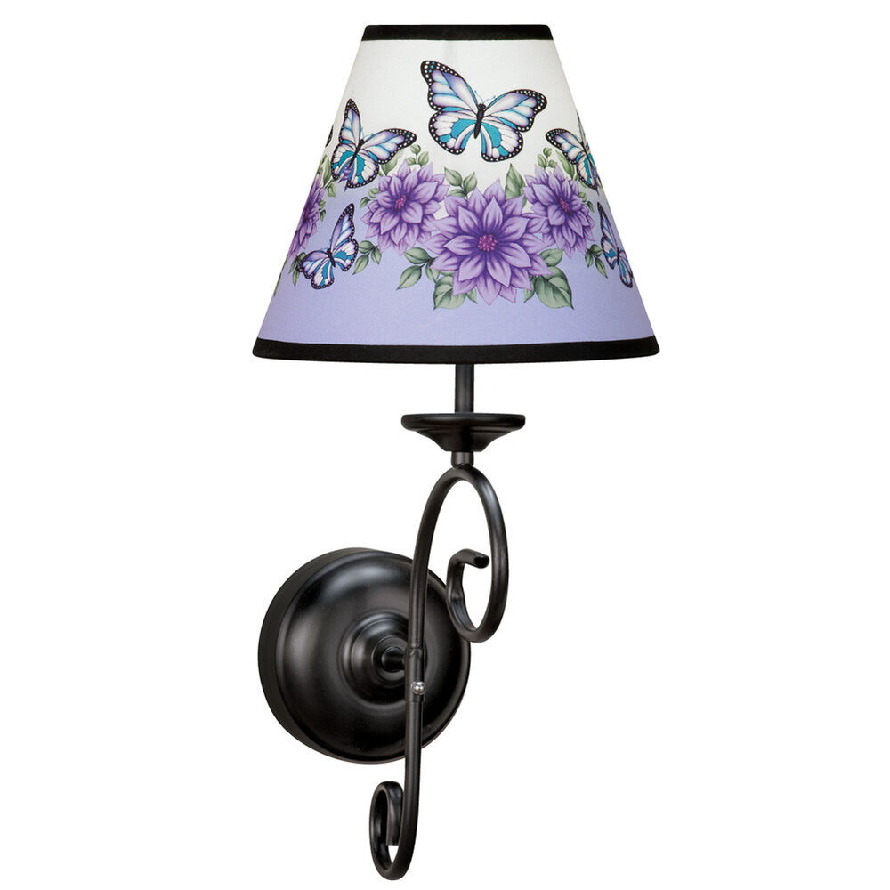 Butterfly Floral Wall Lamp With Remote eBay