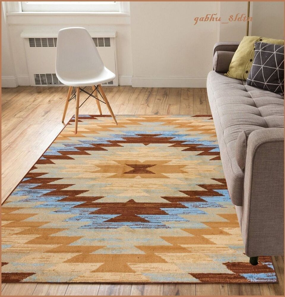 8 x 10 western decor rugs southwest style living room area for Living room rugs 8 by 10