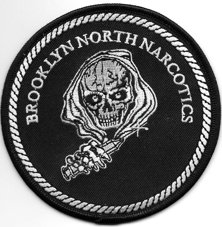 "Brooklyn North Narcotics, NY # 2 (4"" Round Size) Shoulder"