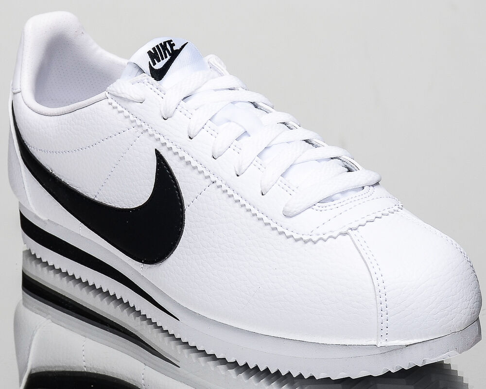 2d6112122ee Details about Nike Classic Cortez Leather men lifestyle sneakers NEW white  black 749571-100. Popular Item