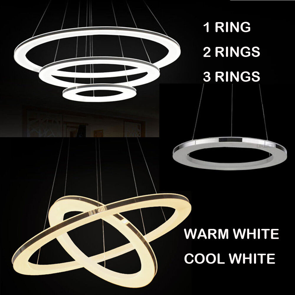 Acrylic Led Ring Chandelier Pendant Lamp Ceiling Light: LED Acrylic Galaxy Chandelier Circle Pendant Lamp Rings