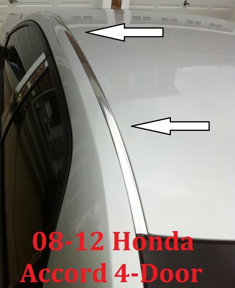 For 2008 2012 Honda Accord Chrome Roof Trim Molding Kit