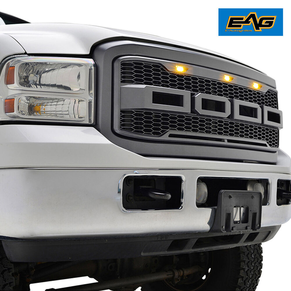 Eag Front Hood Abs Replacement Grille With Led Lights 2005