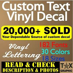 Kyпить Custom Vinyl Lettering Decal Personalized Sticker  Name  Window Text Wall Car на еВаy.соm