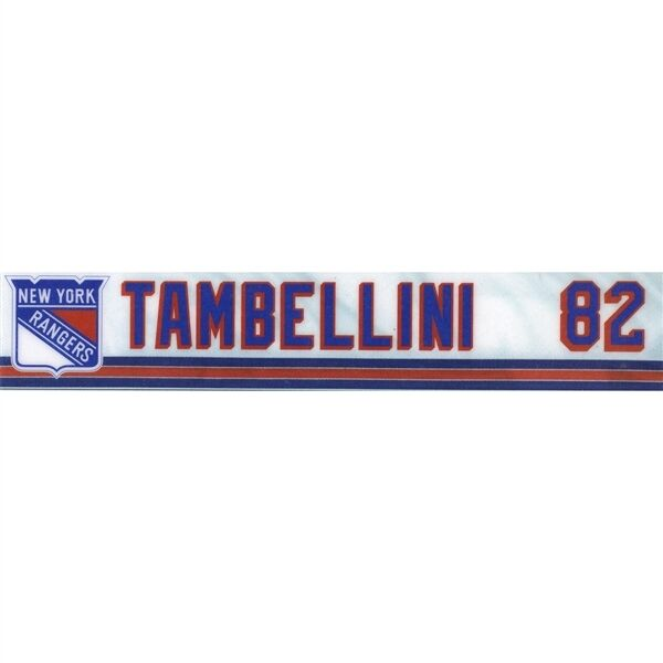 964834125f5 Details about ADAM TAMBELLINI HARTFORD WOLFPACK GAME USED NY RANGERS LOCKER  ROOM NAMEPLATE TAG