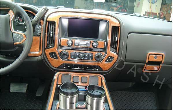 Chevrolet Silverado 2014 2015 2016 2017 Ltz Z71 Interior Wood Dash Trim Kit Set Ebay