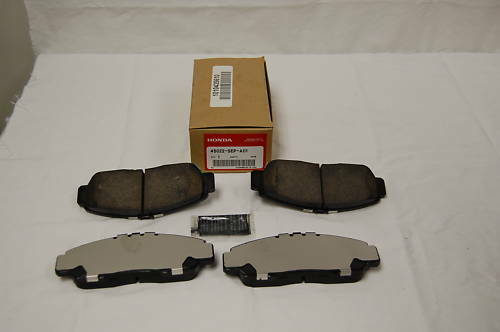 acura oem front brake pads 2004 2008 tl non type s ebay. Black Bedroom Furniture Sets. Home Design Ideas
