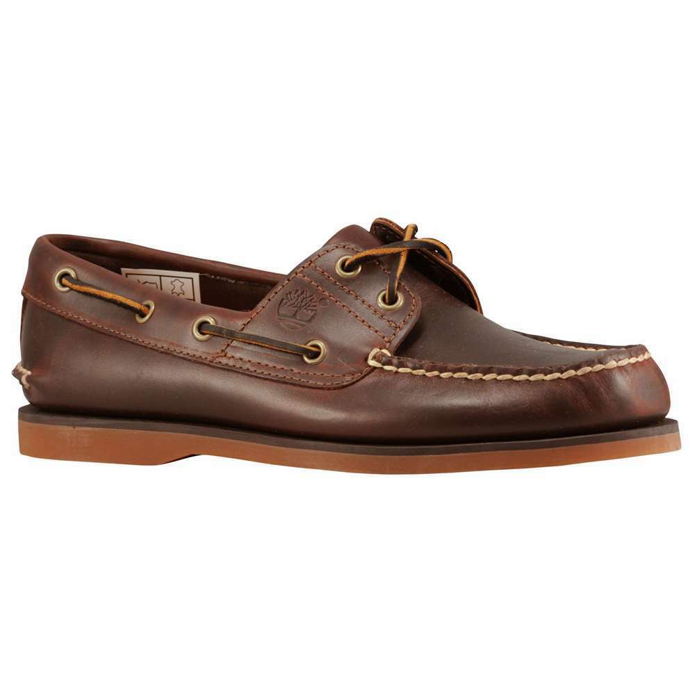 Timberland Men's 2 Eye Boat Shoe Rootbeer Smooth