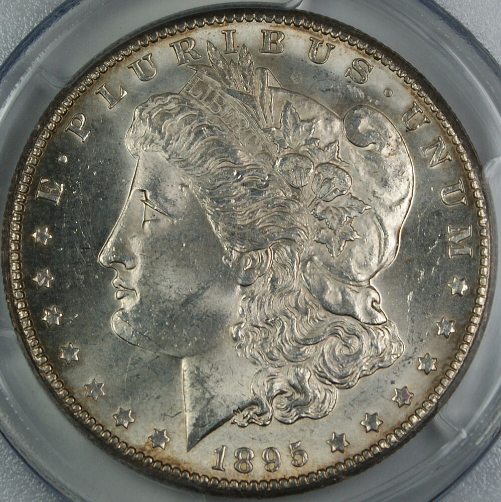 1895 O Morgan Silver Dollar Pcgs Ms 62 Choice Bu Coin Ebay