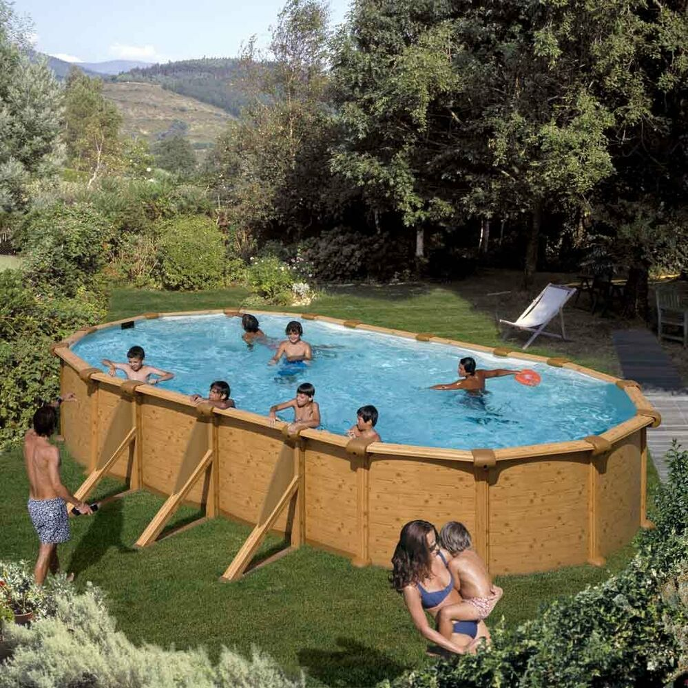 Pool oval becken 7 3x3 7x1 2m stahlwand schwimmbecken for Stahl pool oval