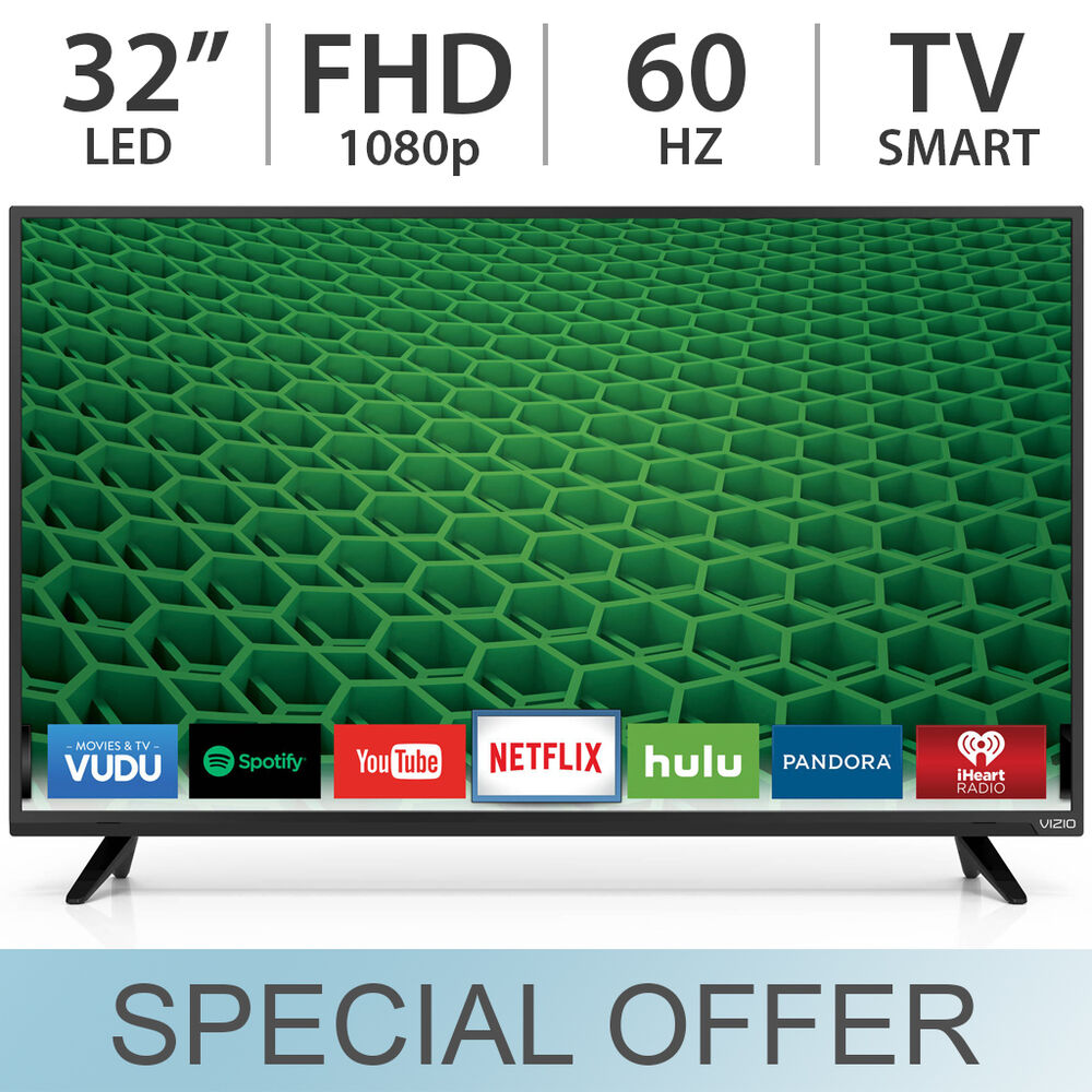 "VIZIO 32"" Inch 1080p FULL HD 60Hz LED FHD Smart TV W/ 2"