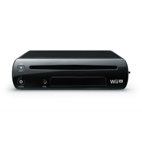 new nintendo wii u black 32gb deluxe system original replacement console only 45496880866 ebay. Black Bedroom Furniture Sets. Home Design Ideas