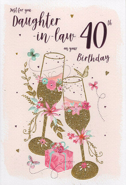 Details About ICG Daughter In Law 40th Birthday Card