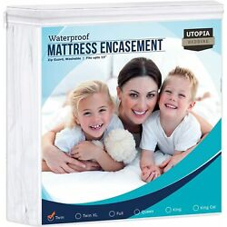 Kyпить Zippered Mattress Encasement Waterproof Mattress Protector Utopia Bedding на еВаy.соm