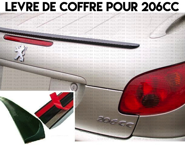 lame coffre peugeot 206cc 206 cc 2000 09 cabriolet spoiler becquet levre lip ebay. Black Bedroom Furniture Sets. Home Design Ideas