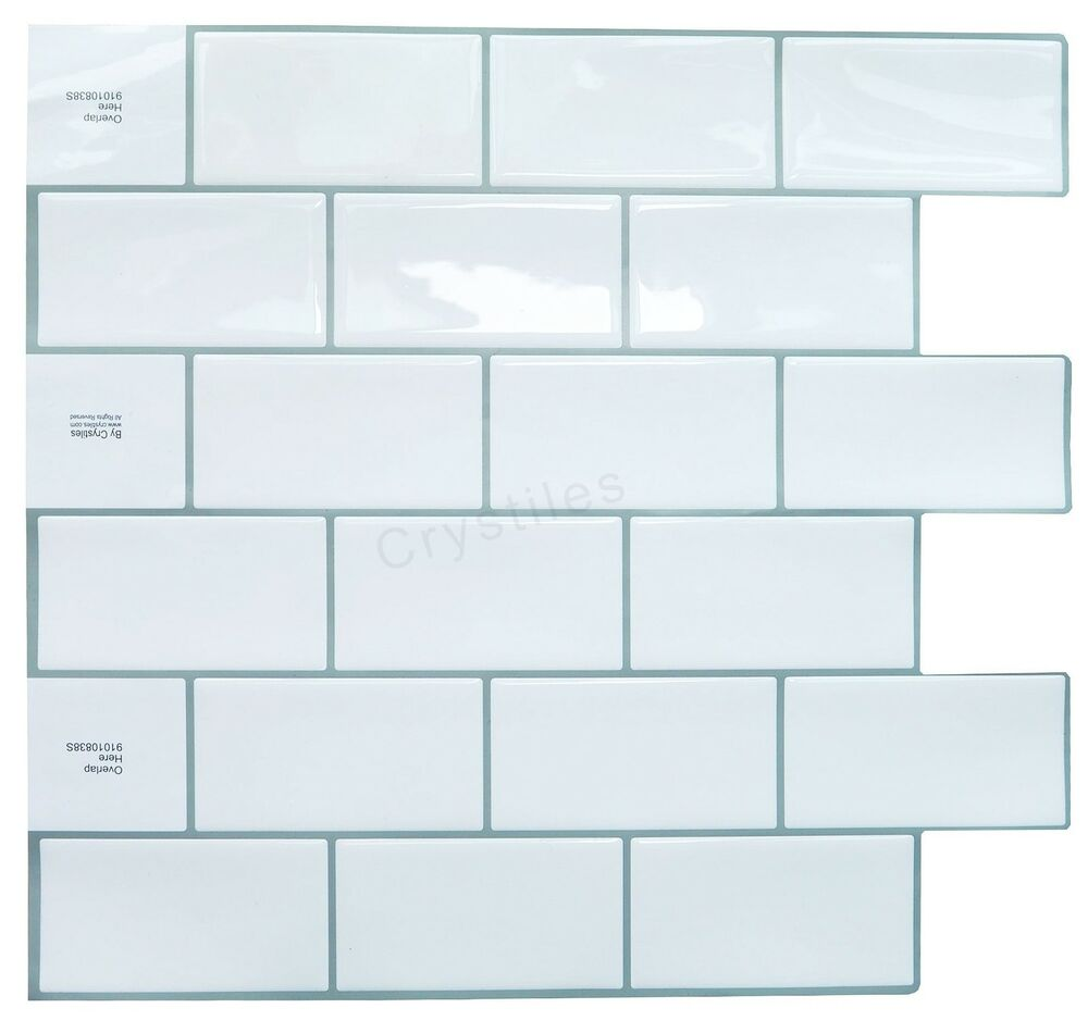 Crystiles Decorative Tiles Peel And Stick Self-Adhesive