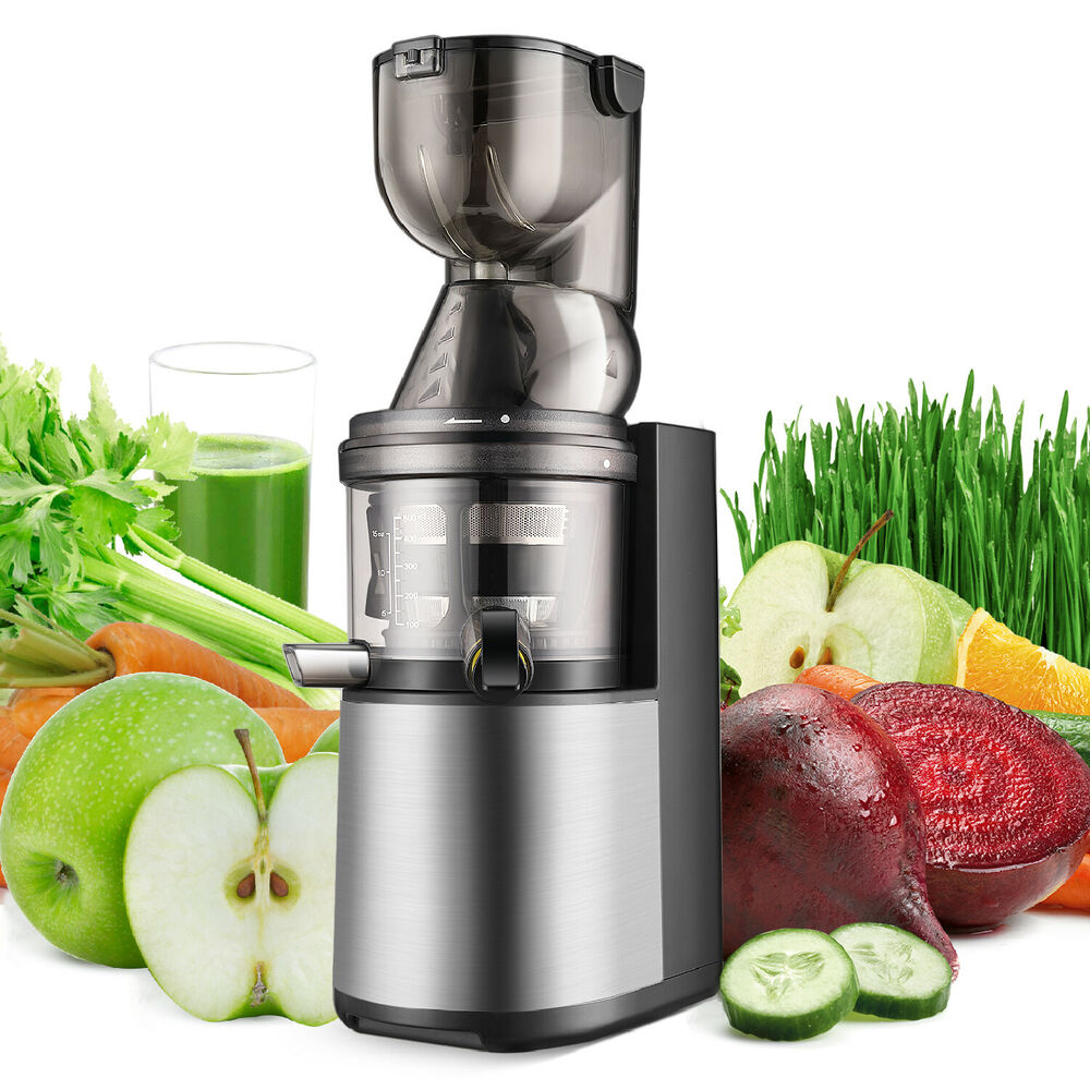 Cold Press Juicer Machine Masticating Slow Juice Extractor ...