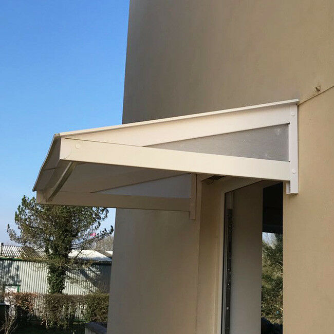 uPVC Over Door Canopy Porch Rain Cover Awning Lean-to Shelter : pvc door canopy - memphite.com