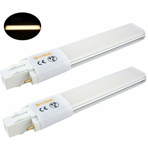 Bonlux 2 Pack 6w Gx23 2 Pin Led Pl Retrofit Lamp 13w Gx23d
