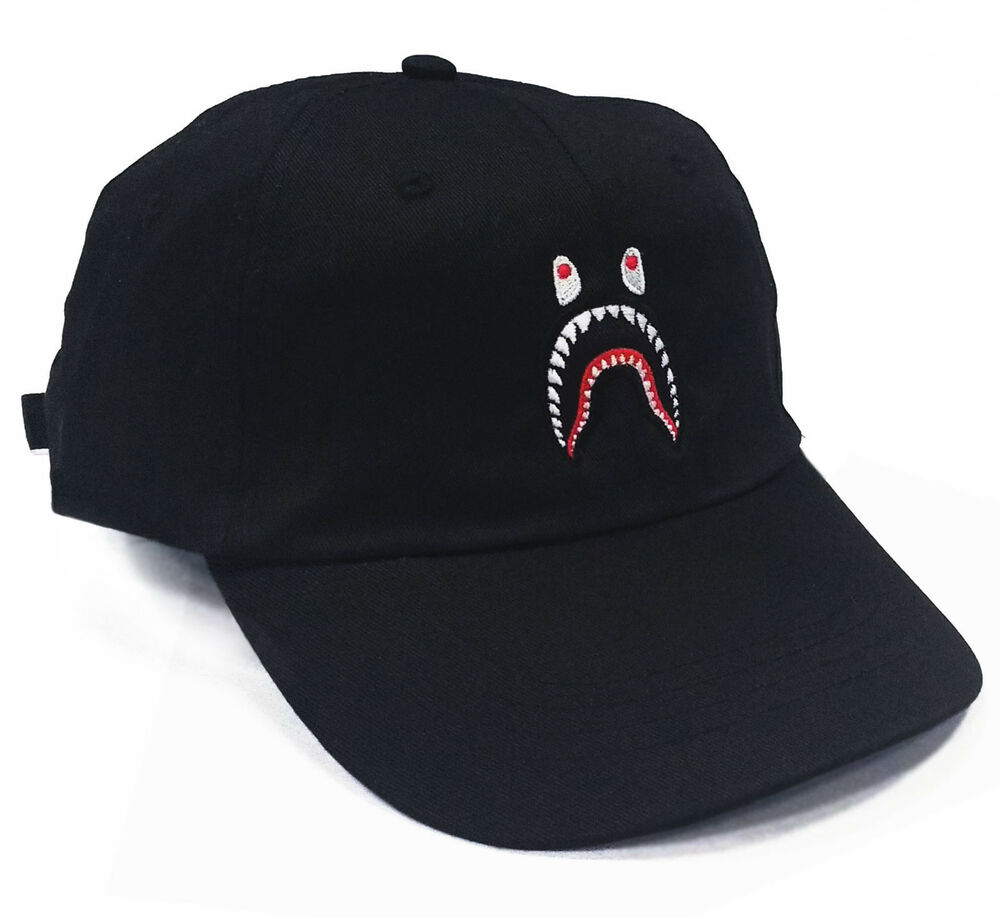 12133be1a4c83 Shark 6 Panel Dad Hat Cap 5 snapback bape palace NEW
