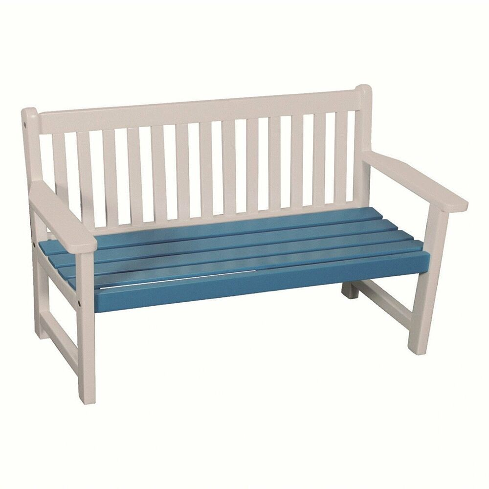 kinder bank gartenbank kinderbank akazienholz breite 75cm weiss blau neu h ndler ebay. Black Bedroom Furniture Sets. Home Design Ideas