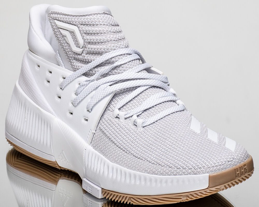 more photos 1e73b 23bfe Details about adidas Dame Lillard 3 Legacy III men basketball shoes NEW  white grey BW0323