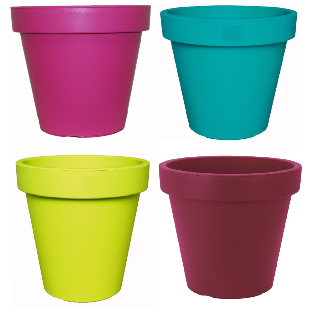 Bright Coloured Plant Pots Large Medium Small Planters