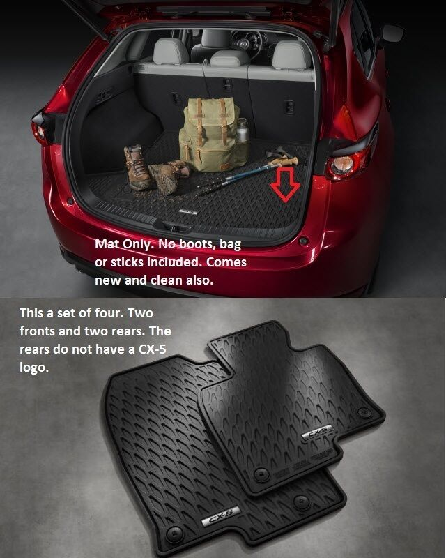 2017 2018 mazda cx 5 cargo tray and mazda cx 5 set of 4 all weather floor mats ebay. Black Bedroom Furniture Sets. Home Design Ideas