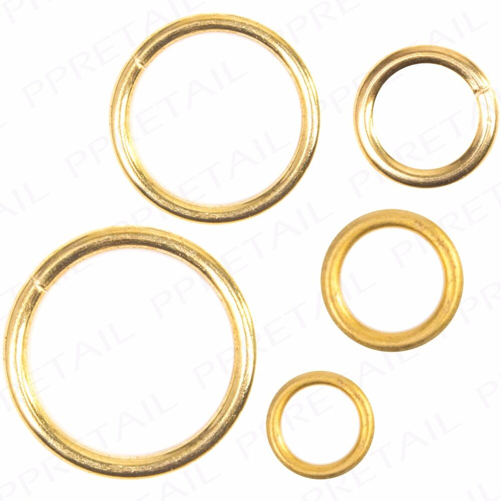 LARGE BRASS CURTAIN RINGS Hollow Solid Plastic