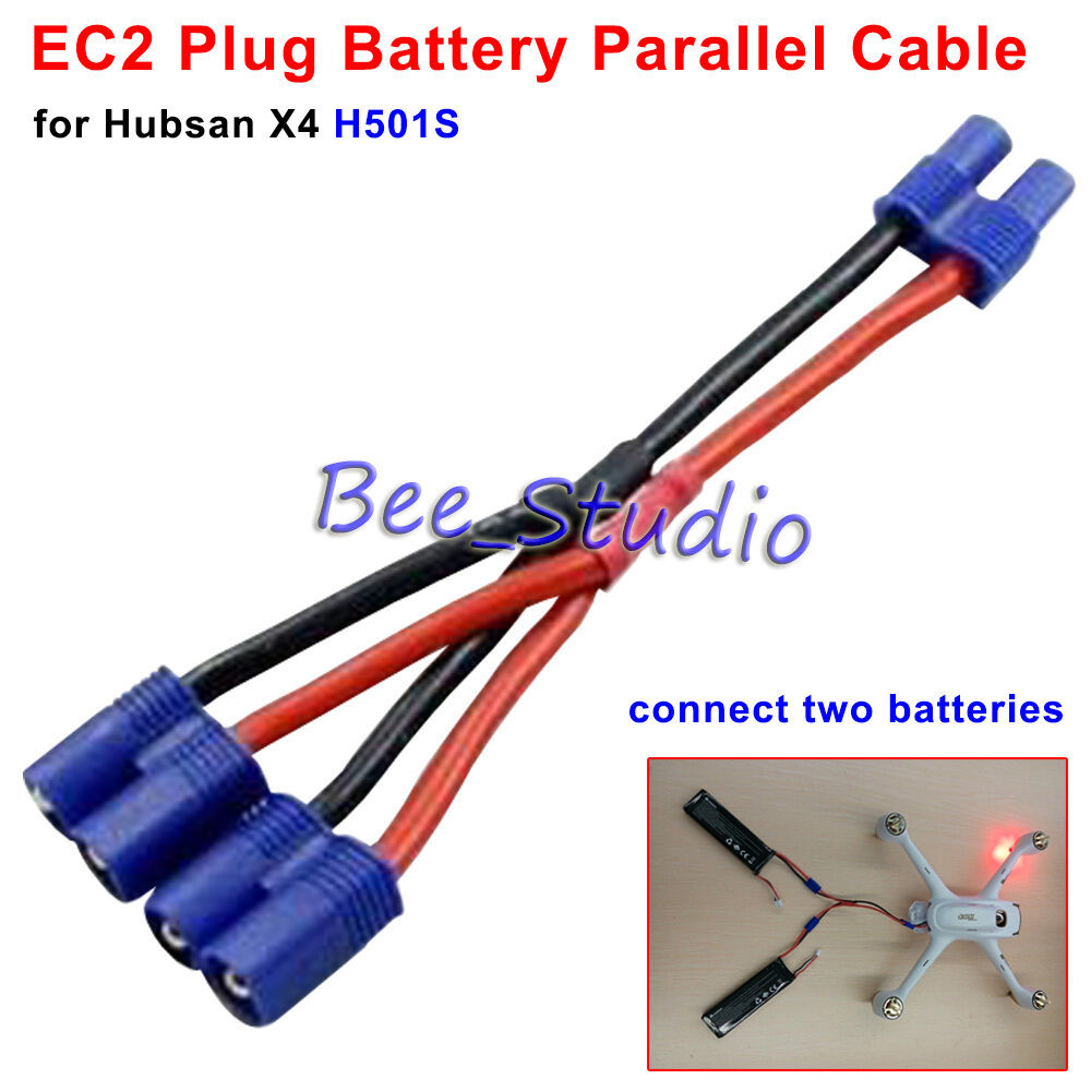 Ec2 Plug Battery Parallel Cable For Hubsan H501s X4 Rc Quadcopter Wiring Batteries Spare Parts Ebay