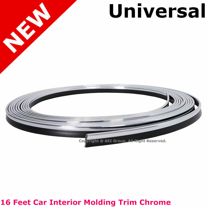 chrome flexible trim car interior moulding strip decorative line 16ft 5m 4mm ebay. Black Bedroom Furniture Sets. Home Design Ideas