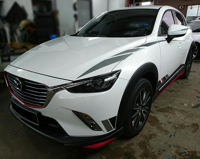 mazda cx3 cx 3 front rear lips aero body kit painted ebay. Black Bedroom Furniture Sets. Home Design Ideas