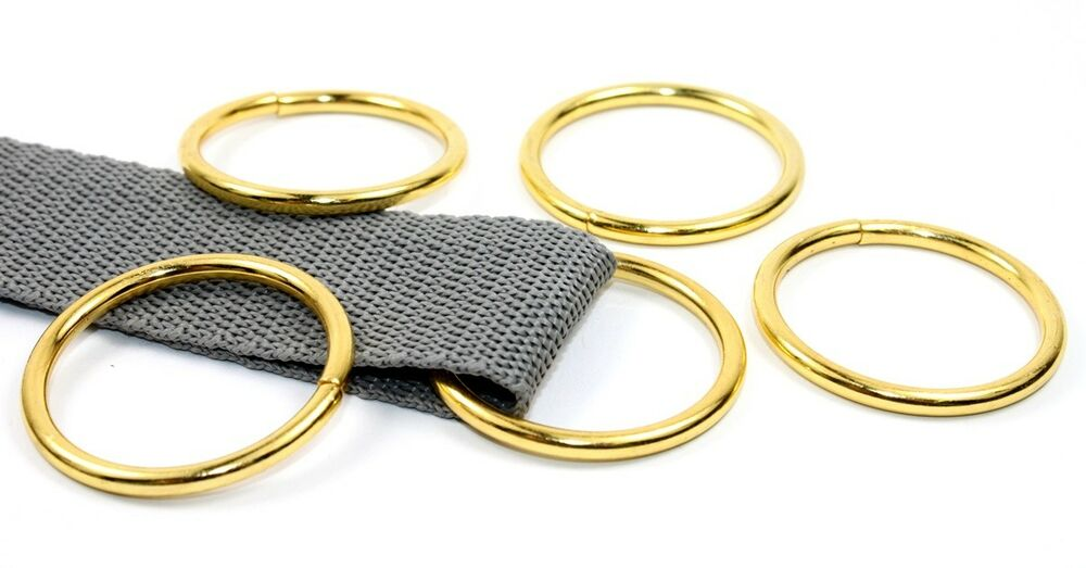 o ringe rundringe 10 st ck 30x3 0mm farbe gold f r 30mm gurt band ebay. Black Bedroom Furniture Sets. Home Design Ideas
