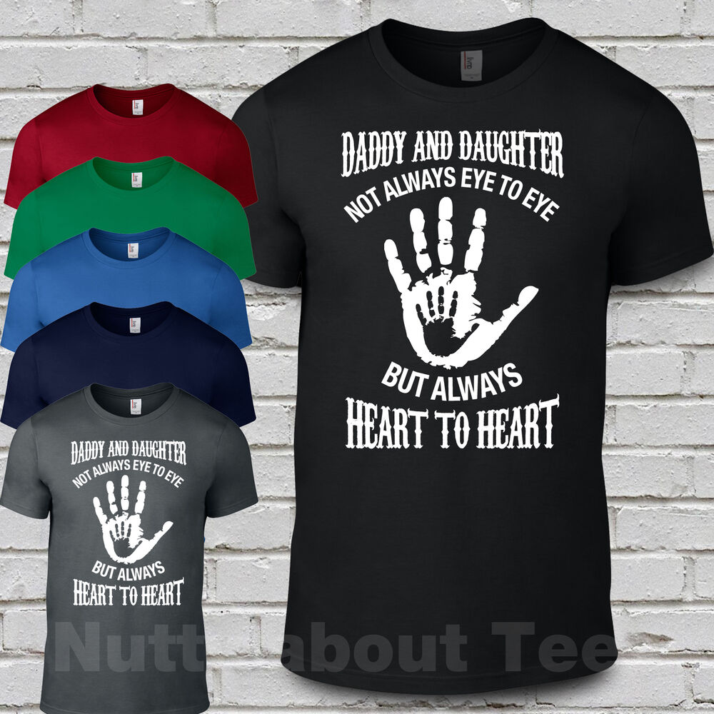 8fde1b912 Details about Daddy and Daughter eye to eye heart to heart matching t  shirts Fathers Day Gift